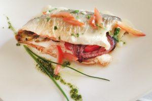 Fish with Pesto Drizzle