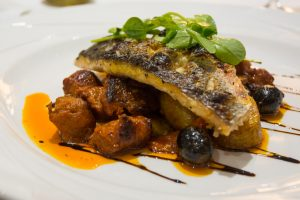 Fish with Chorizo